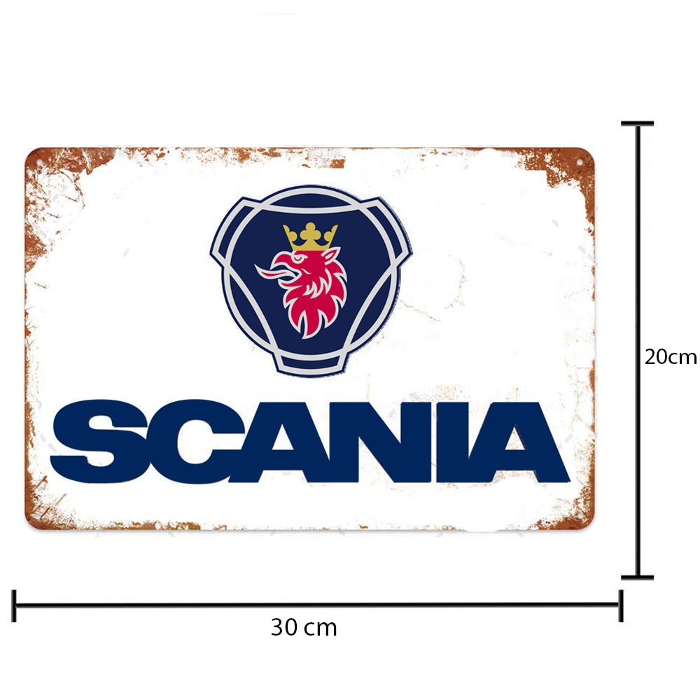 Placa Decorativa Scania Vintage 30x20 Cm