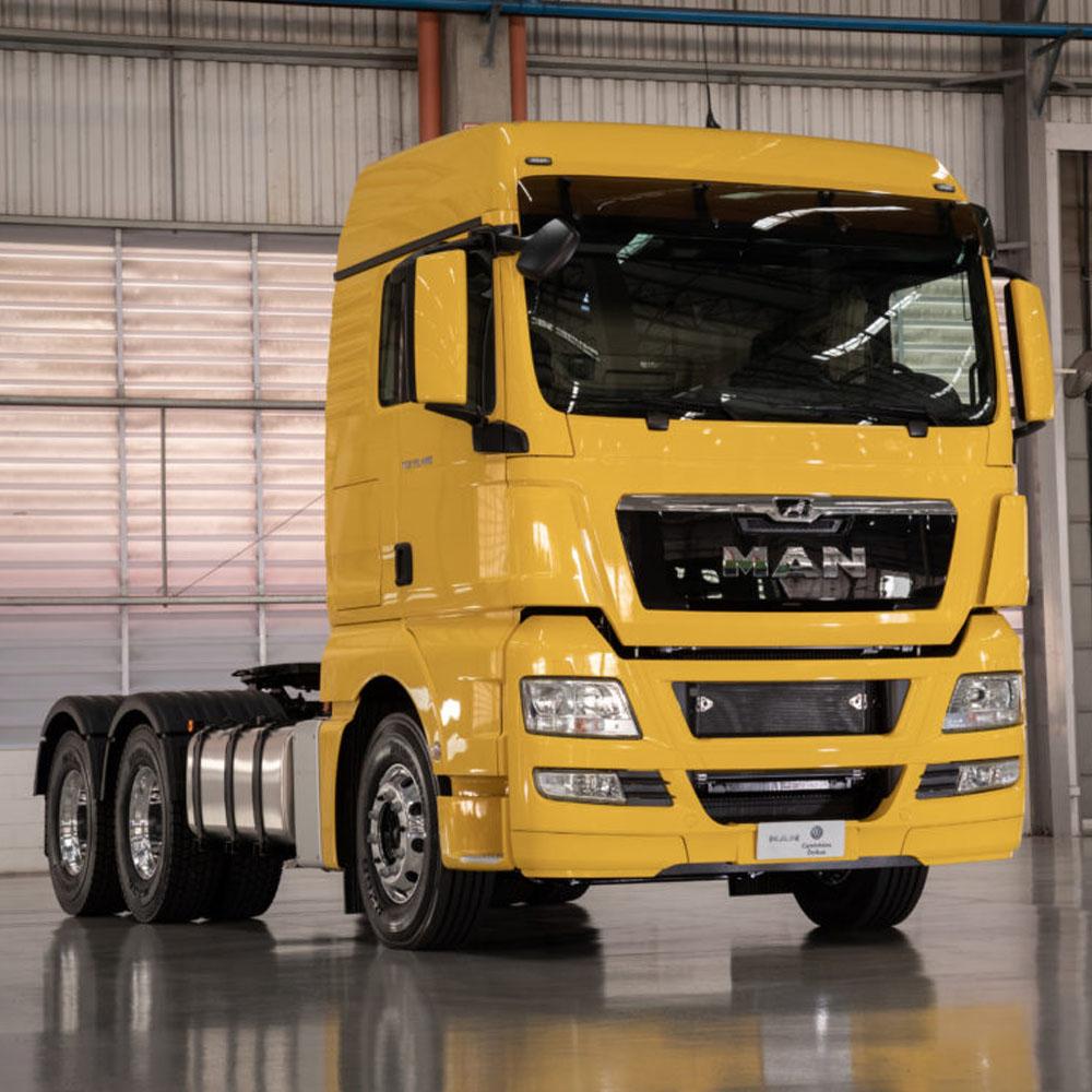 Ponteira de Escapamento Cromada Caminhão Man TGX Euro 5