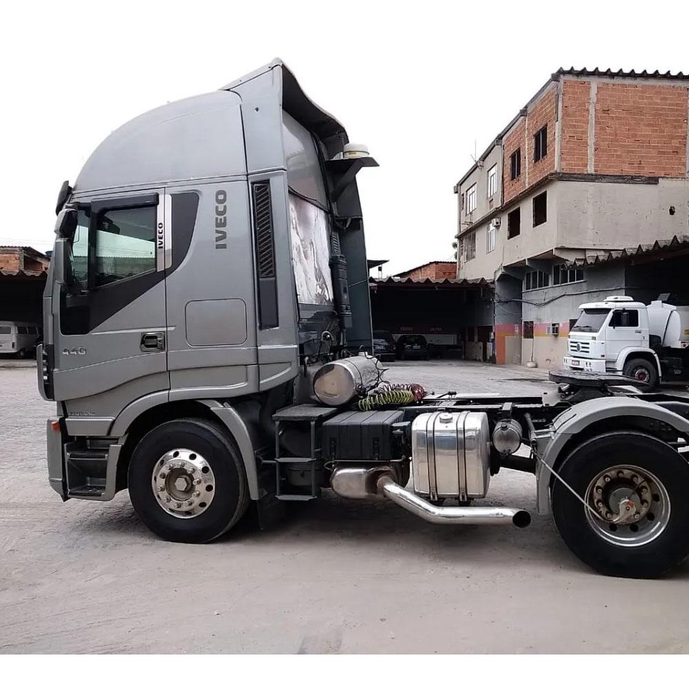 Ponteira de Escapamento Cromada para Caminhão Iveco / Stralis Hi Way Euro 5