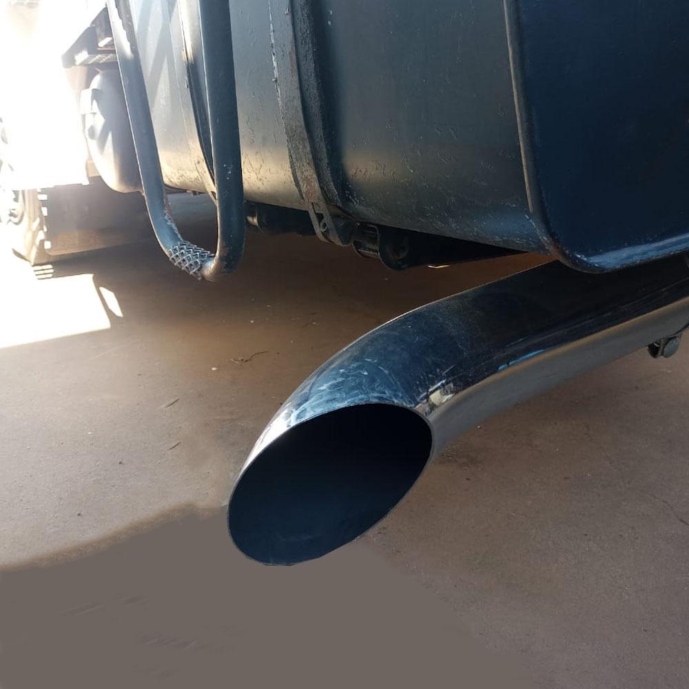 """Ponteira de Escapamento Longo 5"""" 53 cm Cromado para Caminhão"""