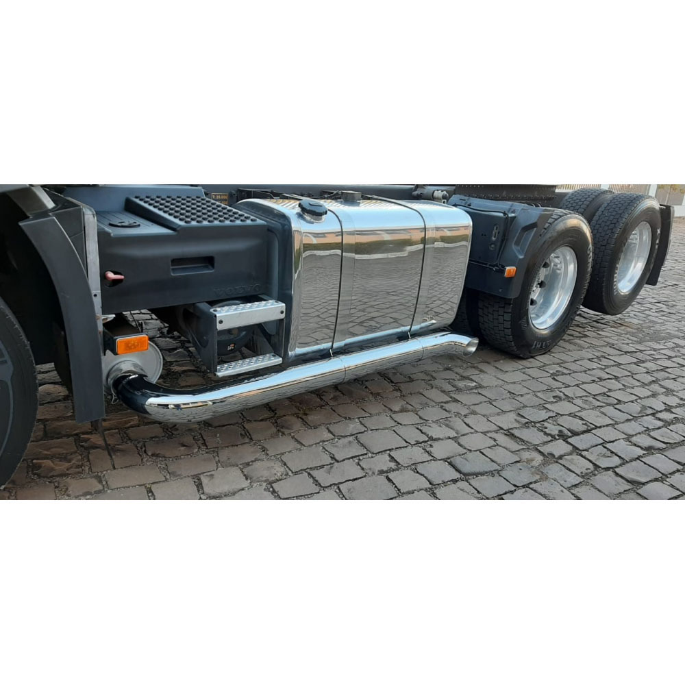 Ponteira Escapamento Lateral Cromado para Caminhão 3´´ 120 x 35 cm