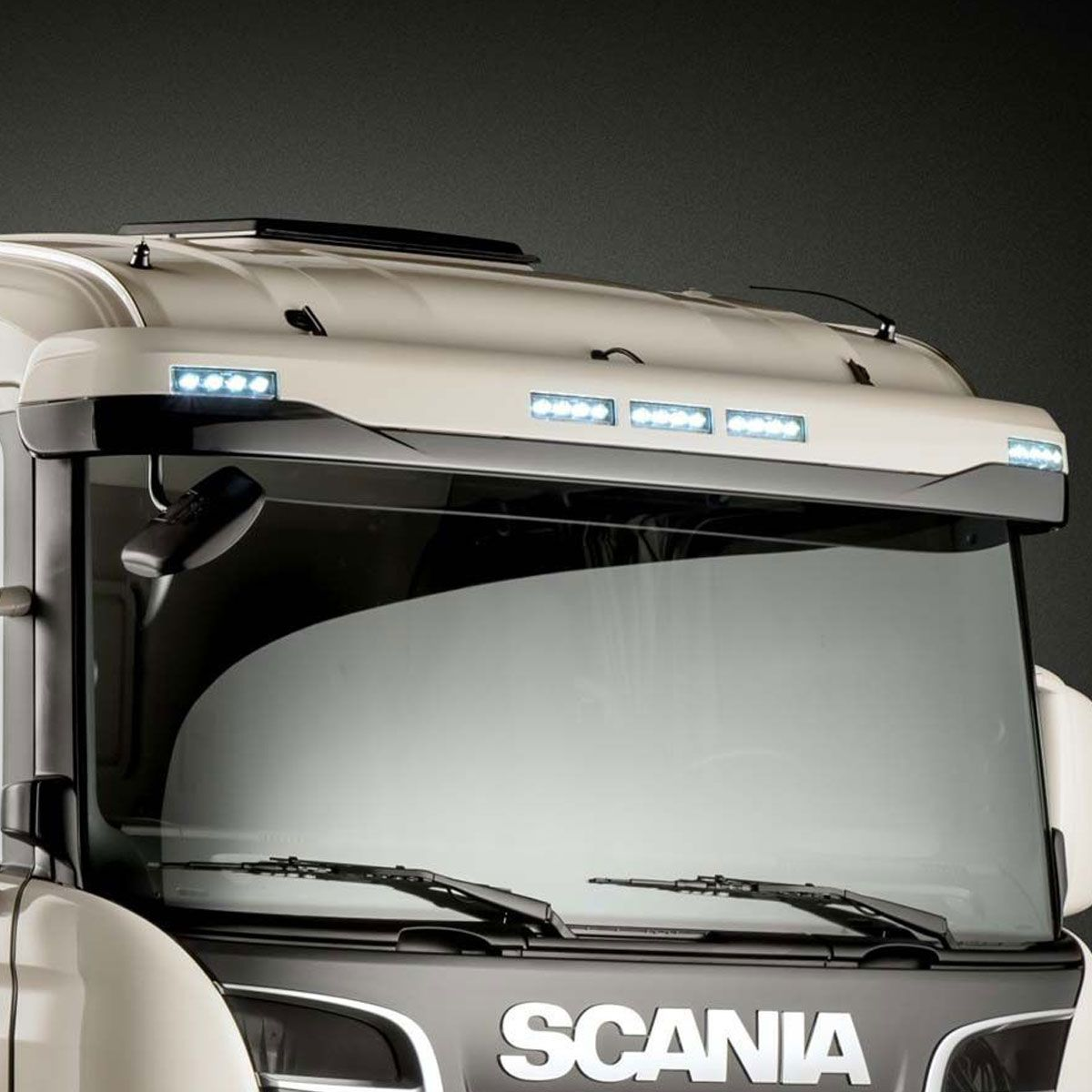 Quebra Sol Scania Serie 5 Streamline com suporte de adaptação S4 e S5 até 2013 + 5 Lanternas Led