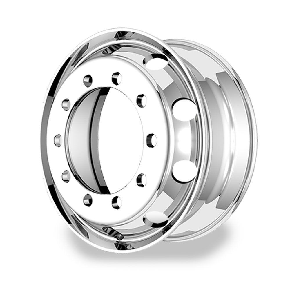 Roda de Alumínio Caminhão Furo Redondo Aro 22,5 X 8,25 10 Furos