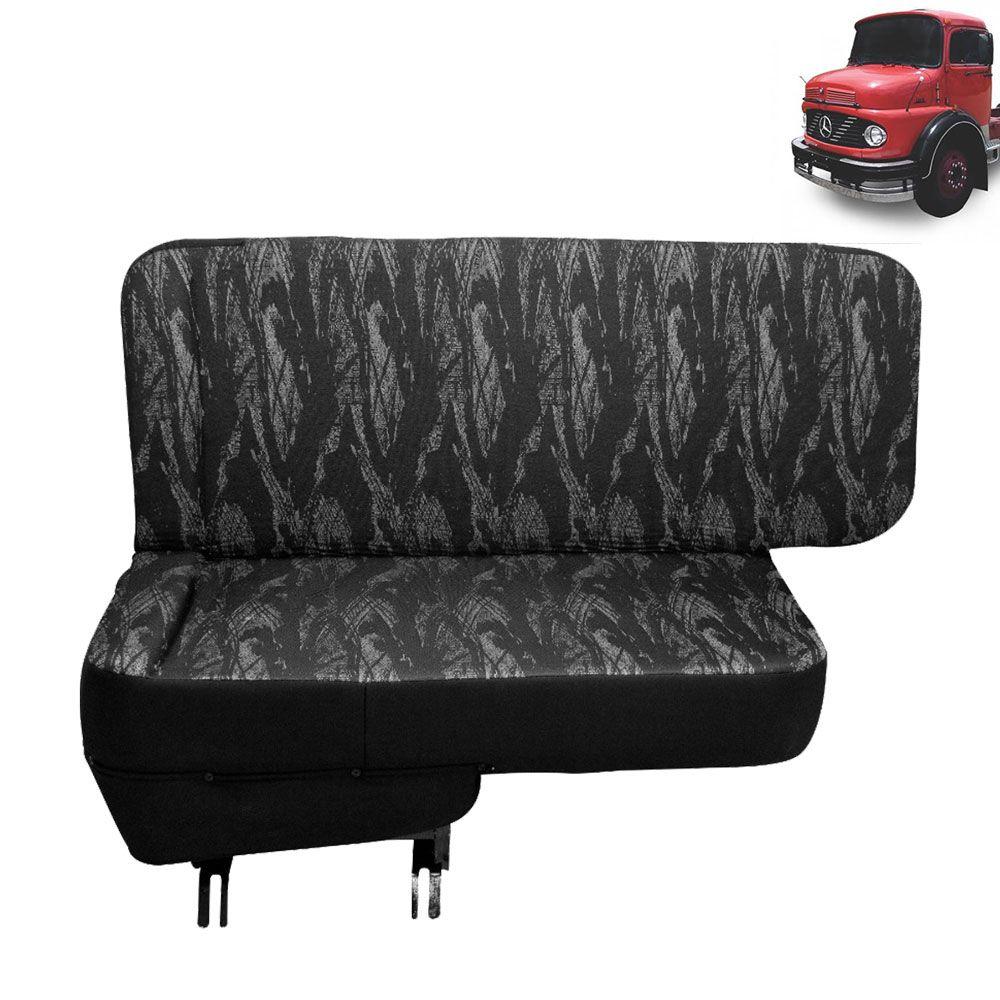 Sofá Cama para Caminhão MB 1113 à MB 2013 Lado Carona