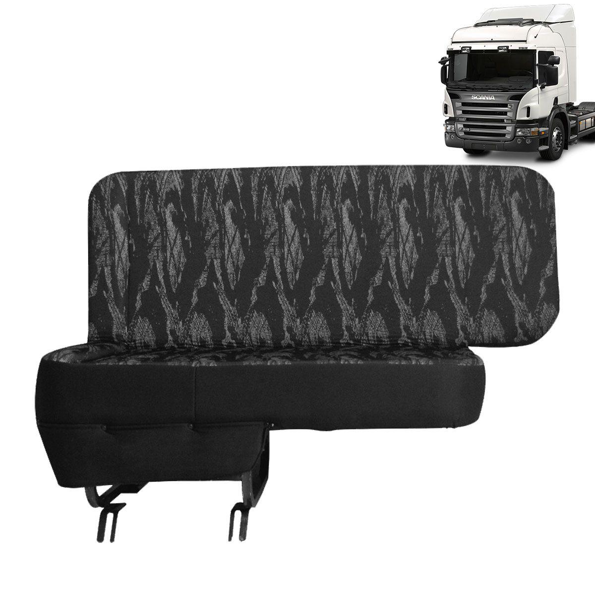 Sofá Cama Compatível com o Caminhão Scania Automático Lado Carona