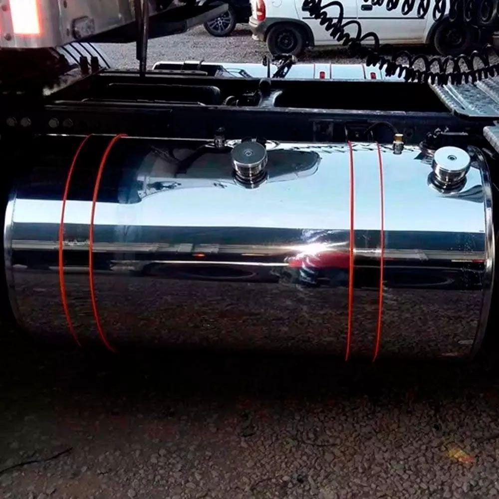 Tampa Antivazamento de Alumínio para Tanque de Combustível Compatível Caminhão Scania 111 112 113