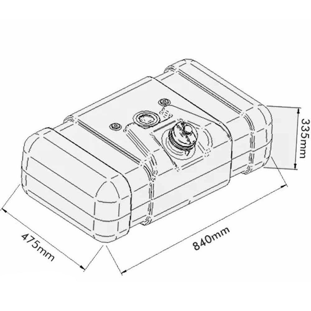 Tanque Combustível Plástico Ford F-4000 80 Litros Completo