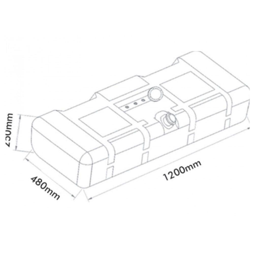 Tanque Combustível Plástico Para Mb 608d 708e 100 L Completo
