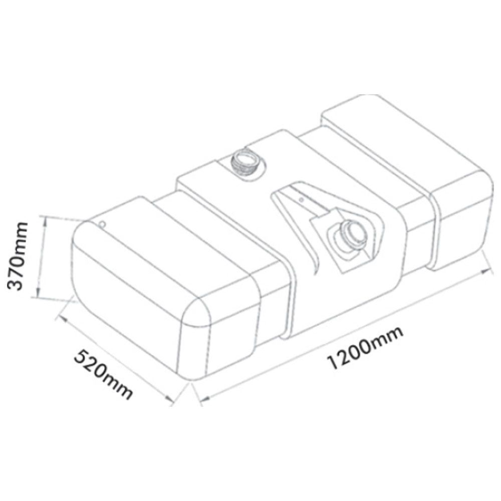 Tanque De Combustível Plástico Mb 709 / 912 / 914c / Accelo