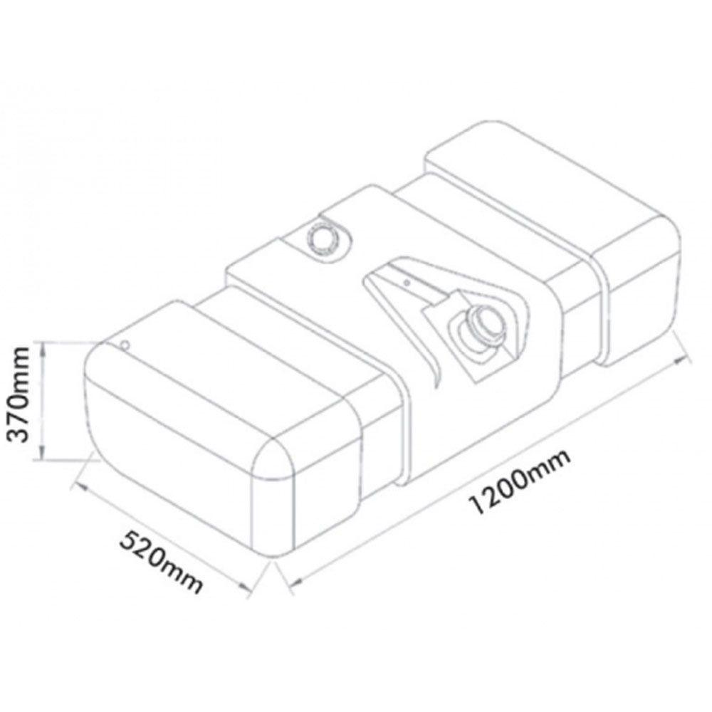 Tanque De Combustível Plástico Para 709 / 912 150 L Completo