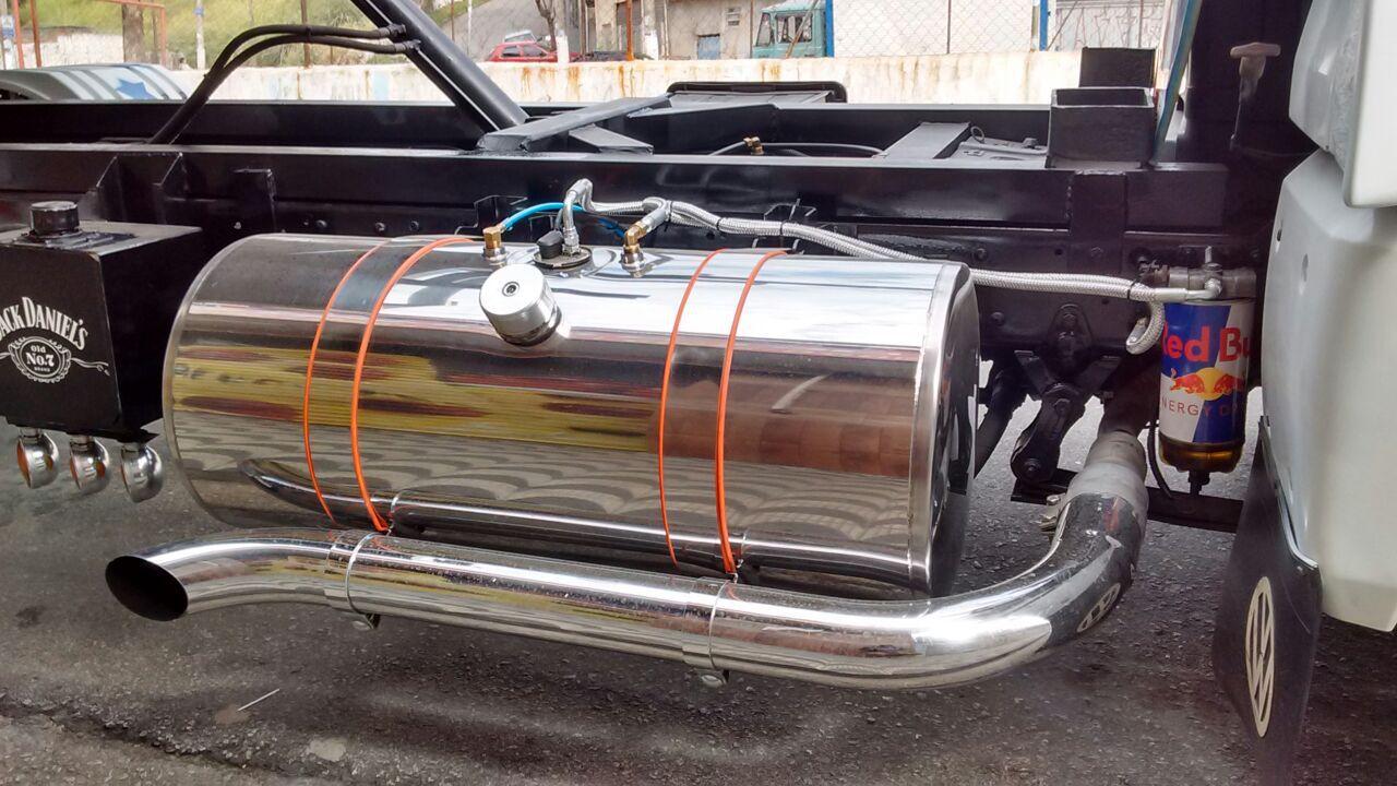 Tanque de inox para Caminhão 155 Litros Completo Padrão Boia de Rosca