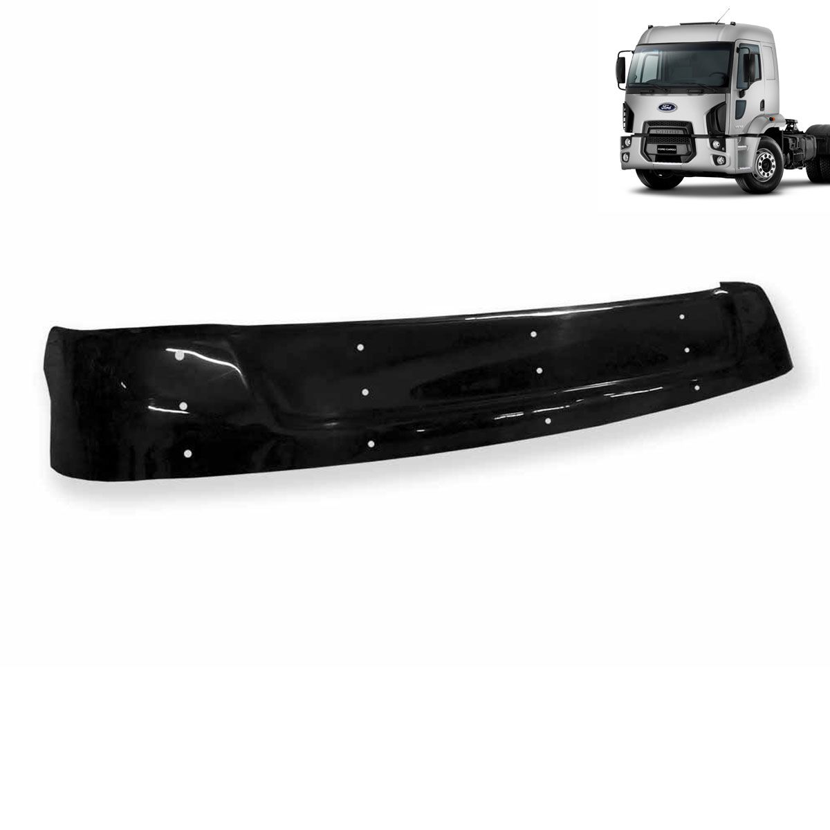 Tapa-Sol Ford Cargo 2012 com Suportes - Cabine Alta