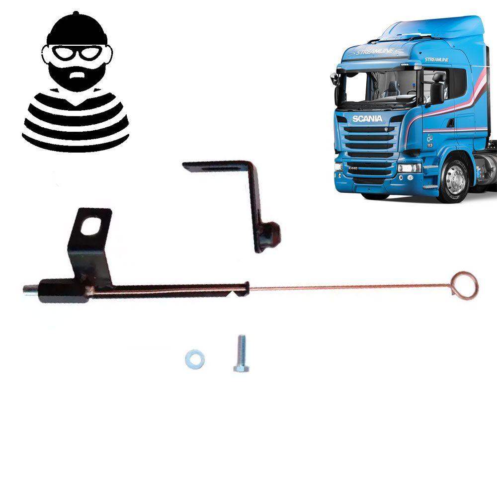Trava antifurto Compatível com o Caminhão Scania cabine G e R grade e farol