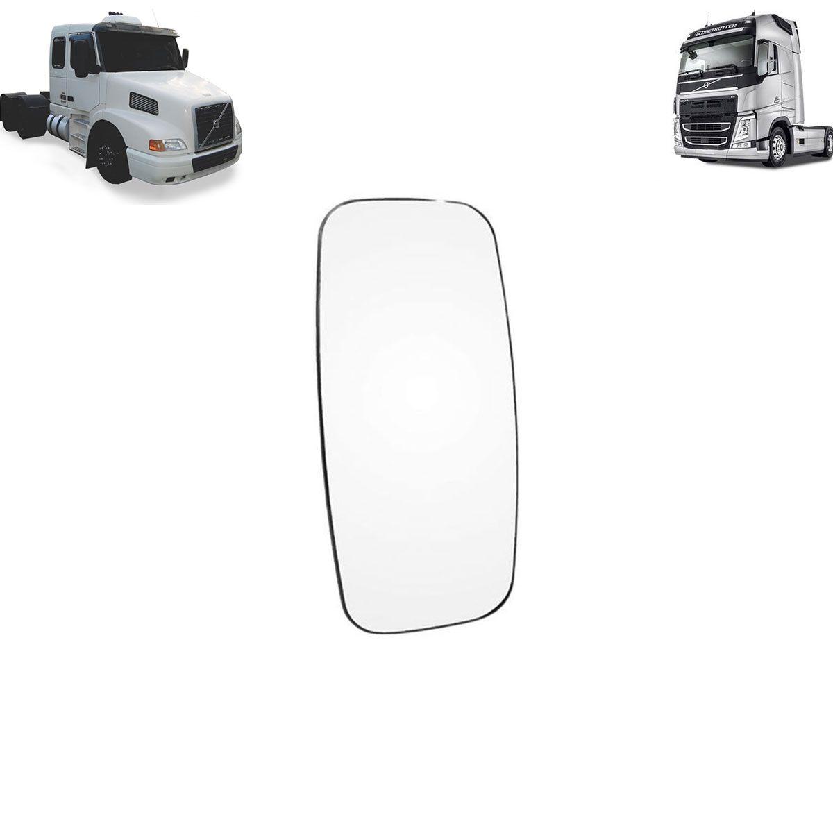 Vidro com Base Espelho Volvo FH - NH Lado Esquerdo - Lado Direito com Desembaçador