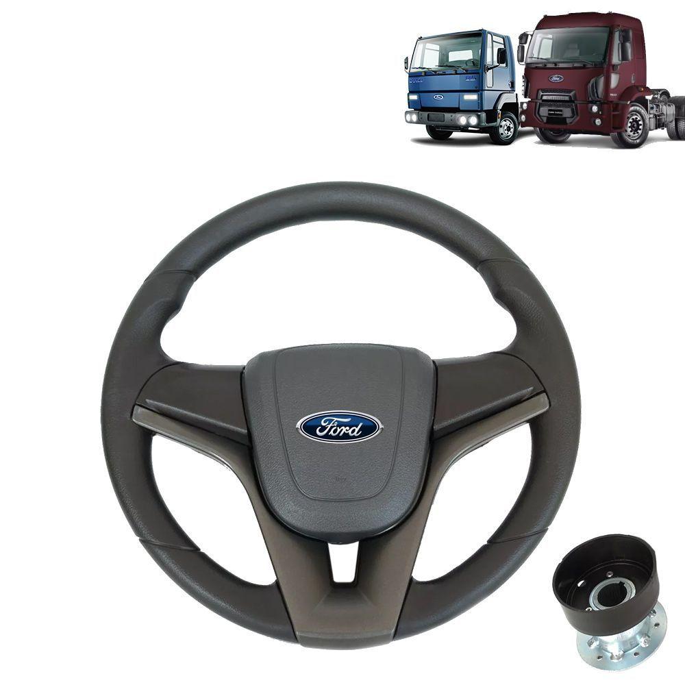 Volante esportivo para caminhão Ford Cargo c/cubo mod Cruze