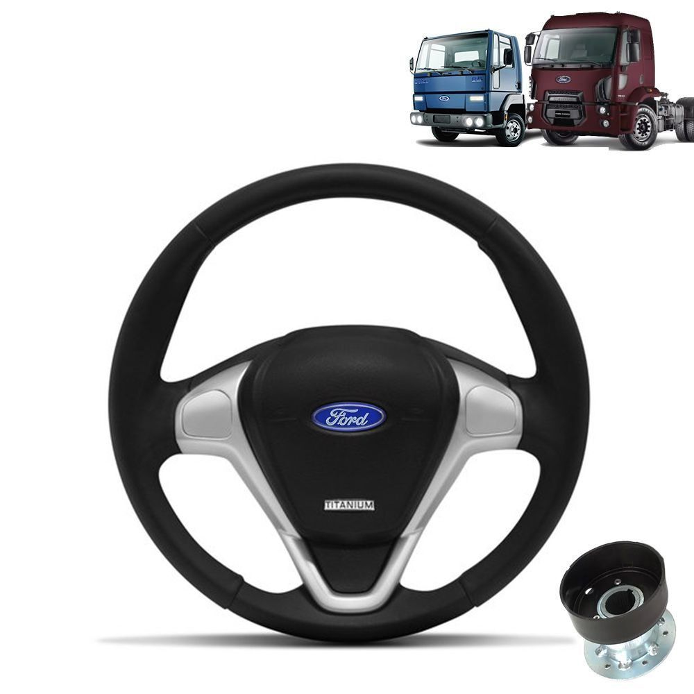 Volante esportivo para caminhão Ford Cargo c/cubo mod Ford Titanium