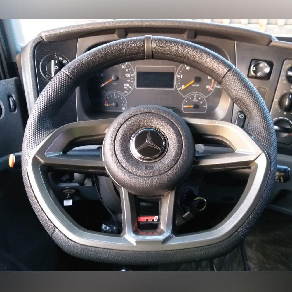 Volante esportivo para caminhão MB 1313 c/cubo mod Golf GTI