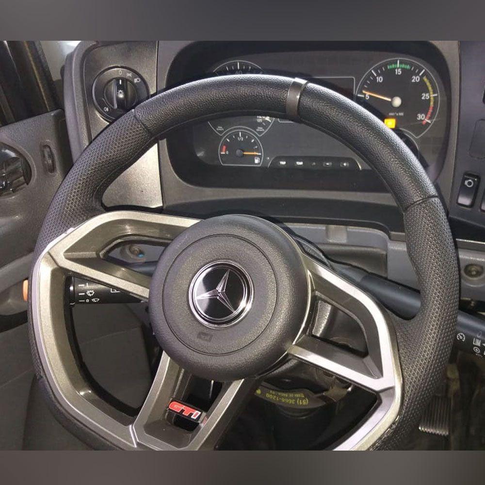 Volante esportivo para caminhão MB 1620 c/cubo mod Golf GTI