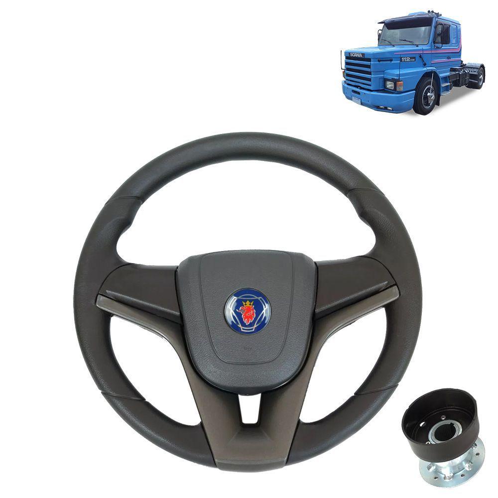 Volante esportivo compatível com o caminhão Scania 112 c/cubo mod Cruze