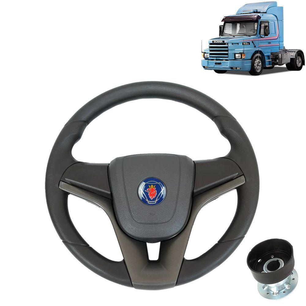 Volante esportivo Compatível com o Caminhão Scania 113 c/cubo mod Cruze