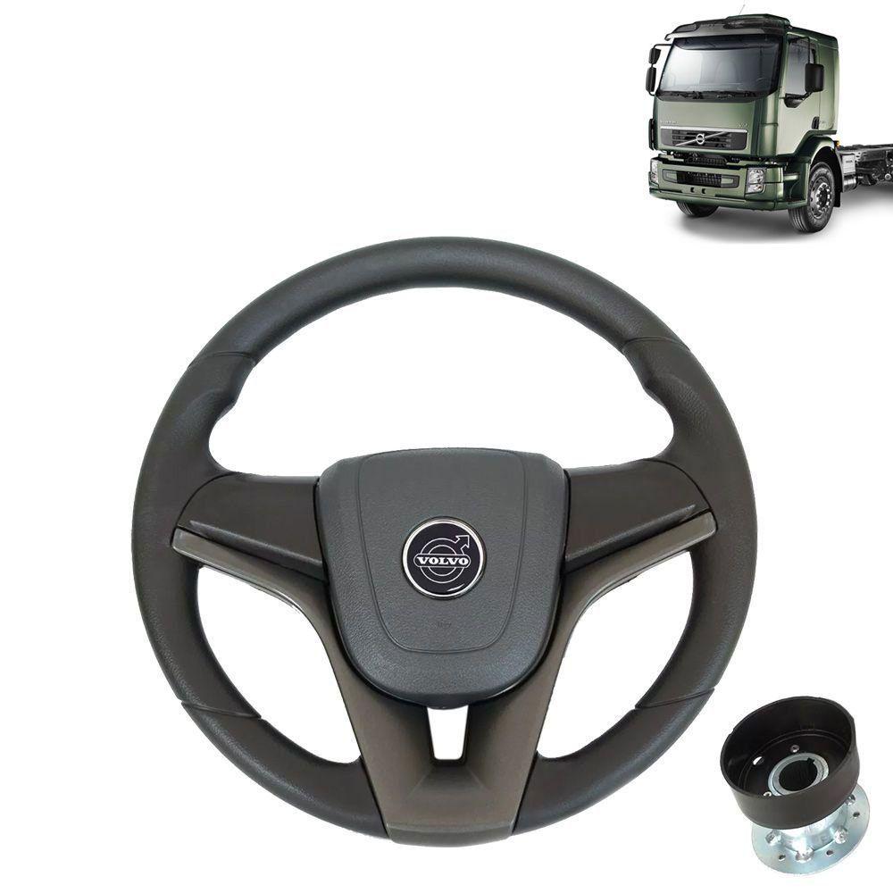 Volante esportivo para caminhão Volvo VM c/cubo mod Cruze
