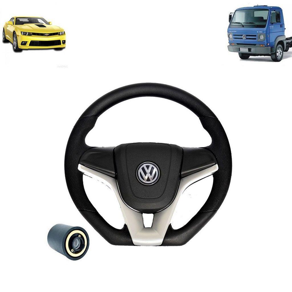 Volante esportivo para caminhão VW Delivery 8 150 c/cubo mod Camaro