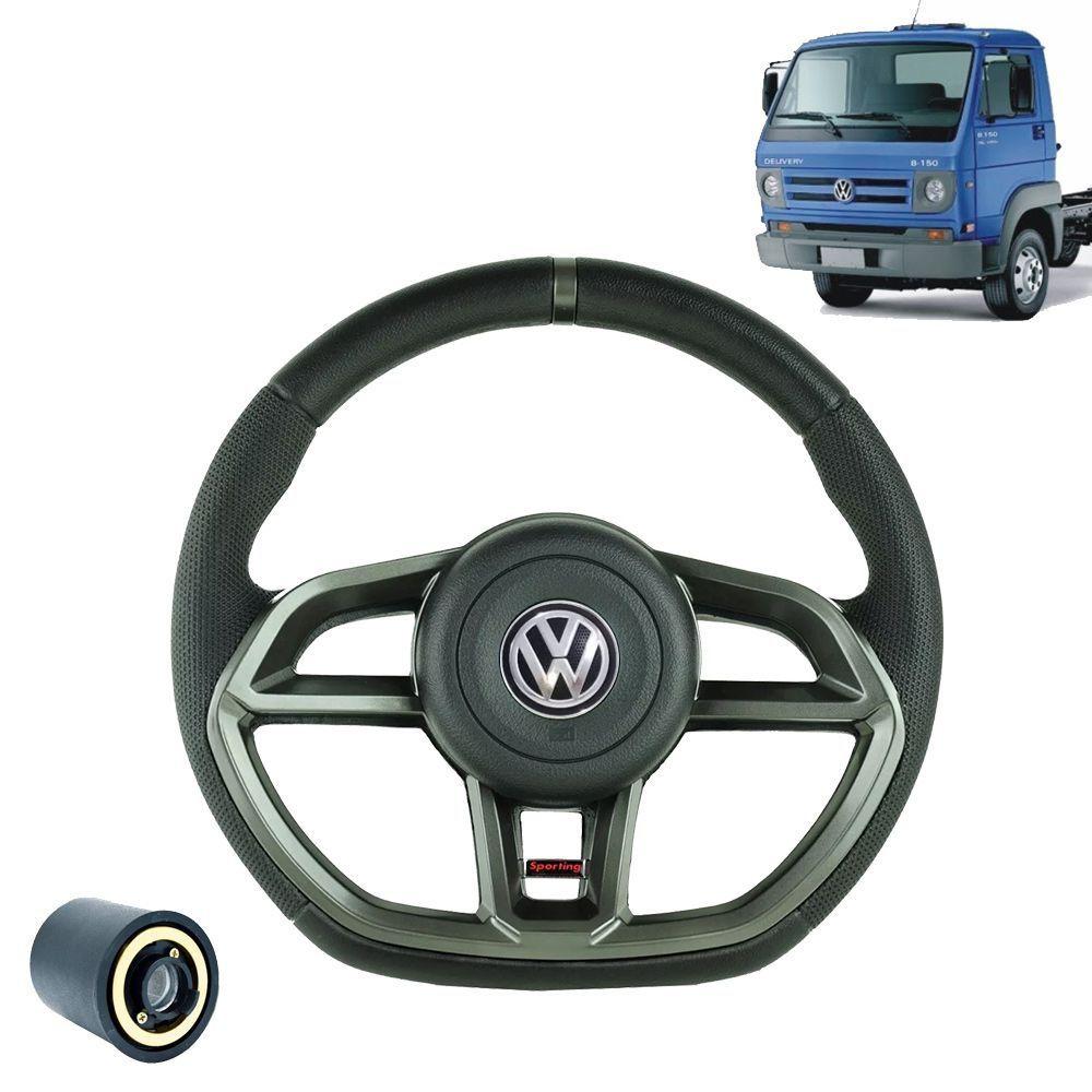 Volante esportivo para caminhão VW Delivery 8 150 c/cubo mod Golf GTI