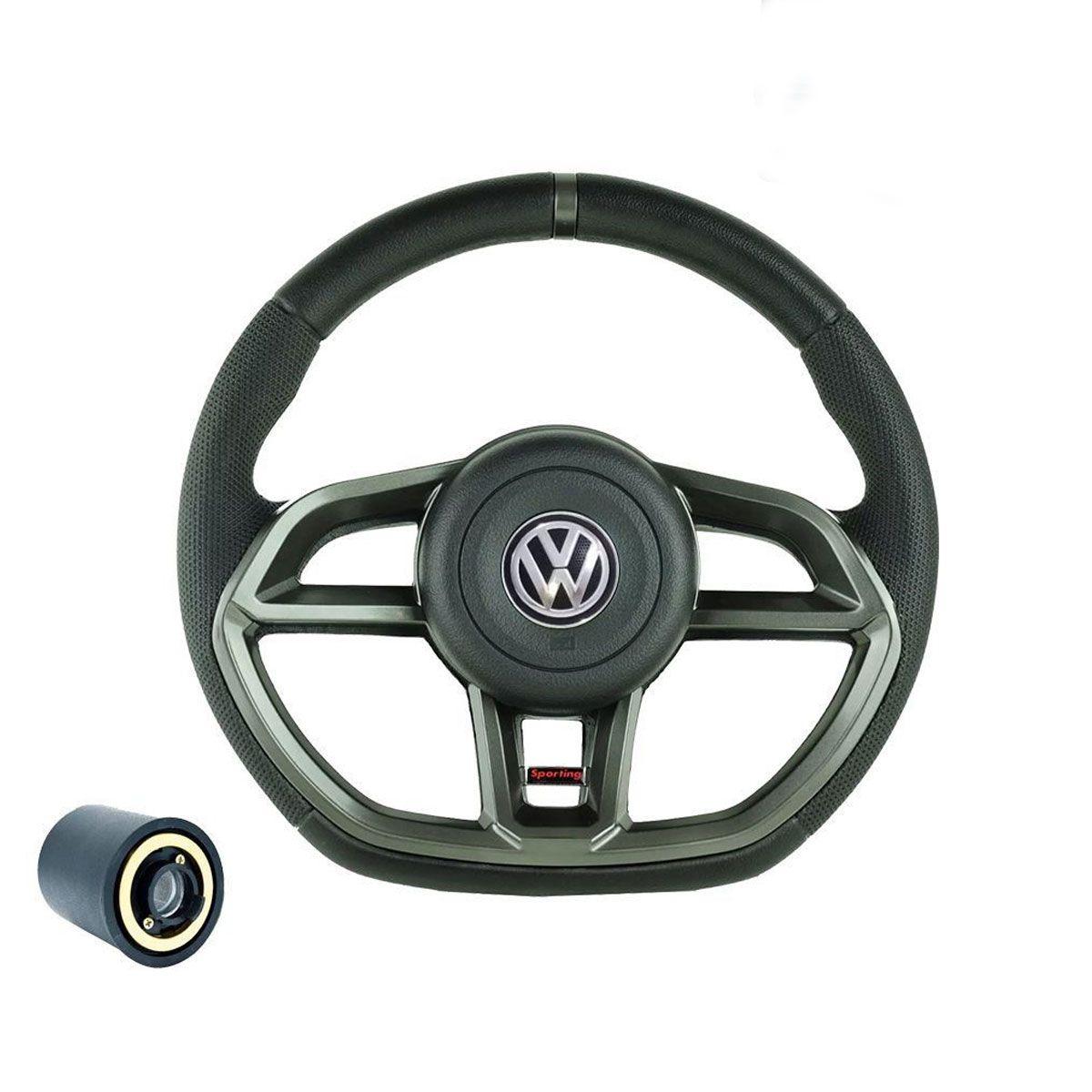 Volante esportivo para caminhão VW Titan c/cubo mod Golf GTI
