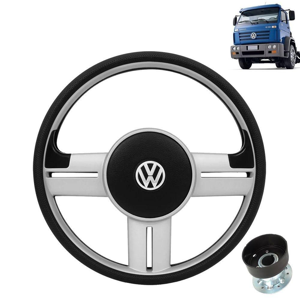 Volante esportivo para caminhão VW Titan c/cubo mod Saveiro Surf