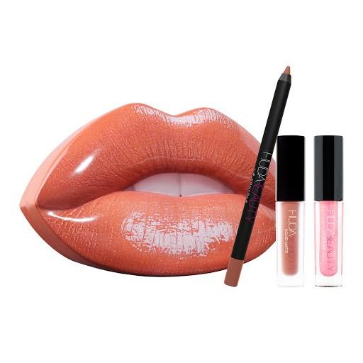 Contour e Strobe Lip Set Trendsetter HUDA BEAUTY
