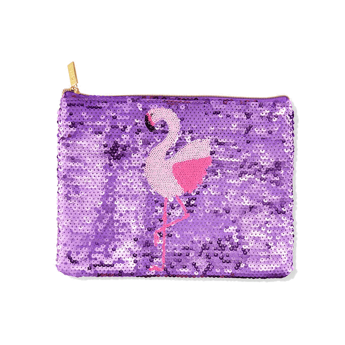 Necessaire Flamingo Sequin Bag TARTE