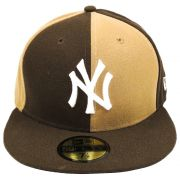 Boné New Era Beisebol New York Yankees Aba Marron Reta Fechado