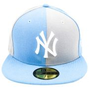 Boné New Era Beisebol New York Yankees Aba Azul Reta Fechado