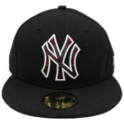Boné New Era Beisebol New York Yankees Aba Reta Fechado