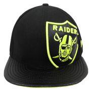 Boné New Era Futebol Oakland Raiders Aba Reta Fechado