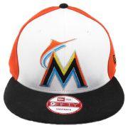 Boné New Era Beisebol Miami Marlins SnapBack Aba Reta Unissex