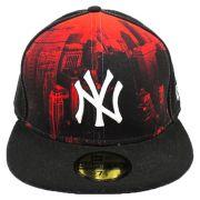 Boné New Era Beisebol New York Yankees Imagem Aba Reta Fechado