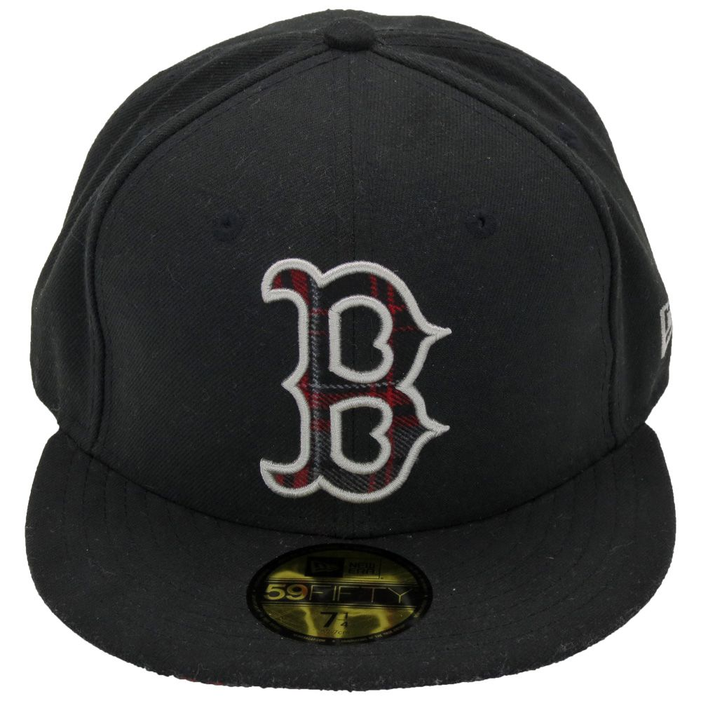 Boné New Era Beisebol Boston Red Sox Aba Xadrez Reta Fechado