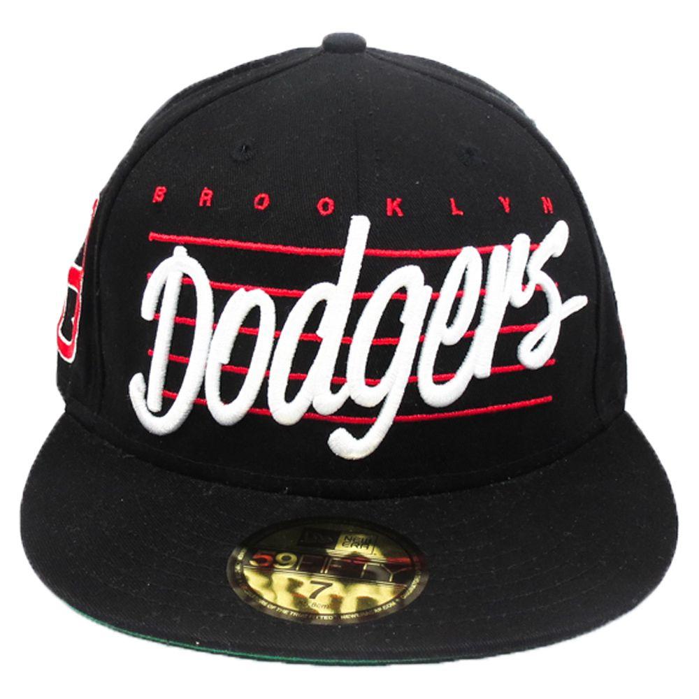 Boné New Era Beisebol Brooklyn Dodgers Aba Reta Fechado