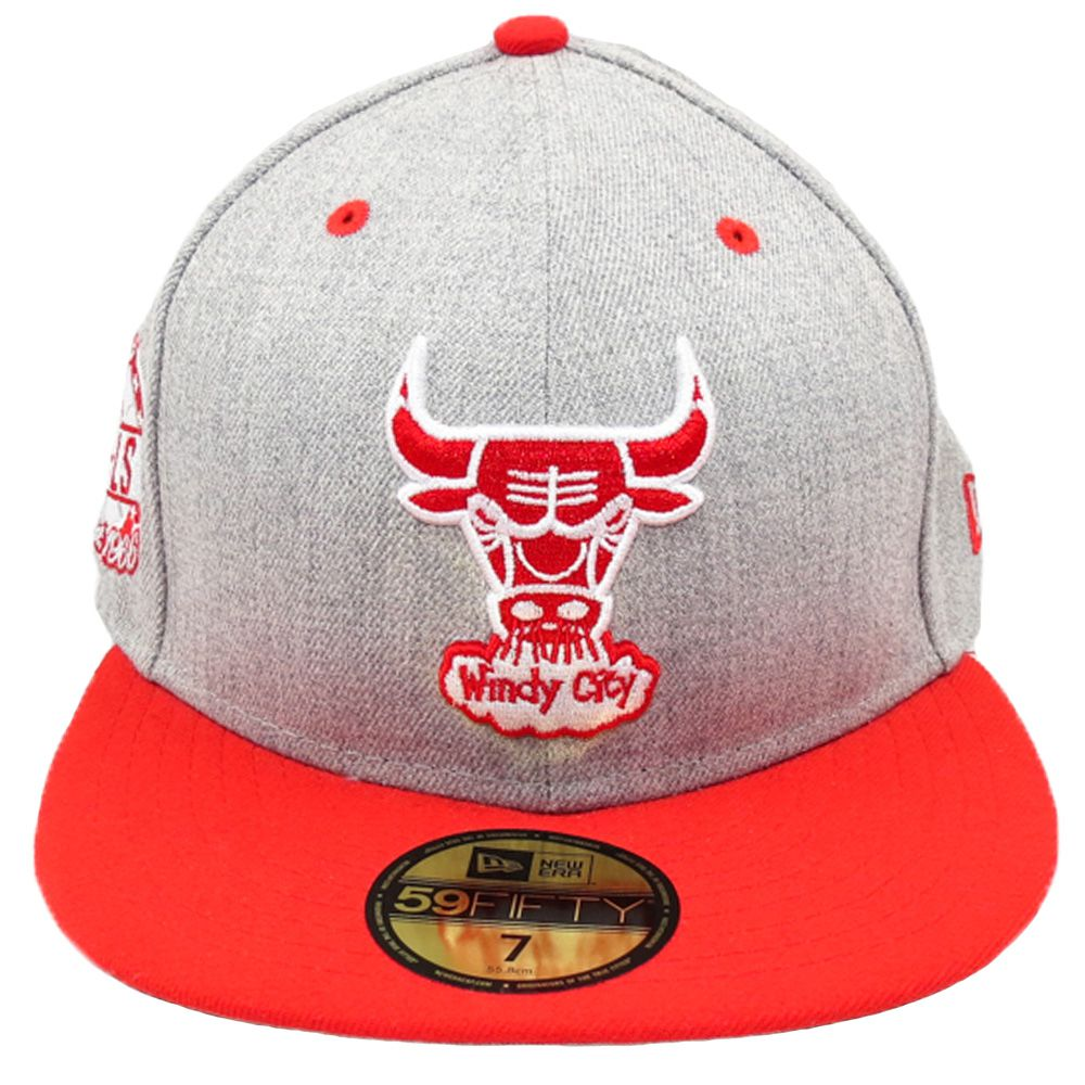 Boné New Era Chicago Bulls NBA Aba Reta Fechado