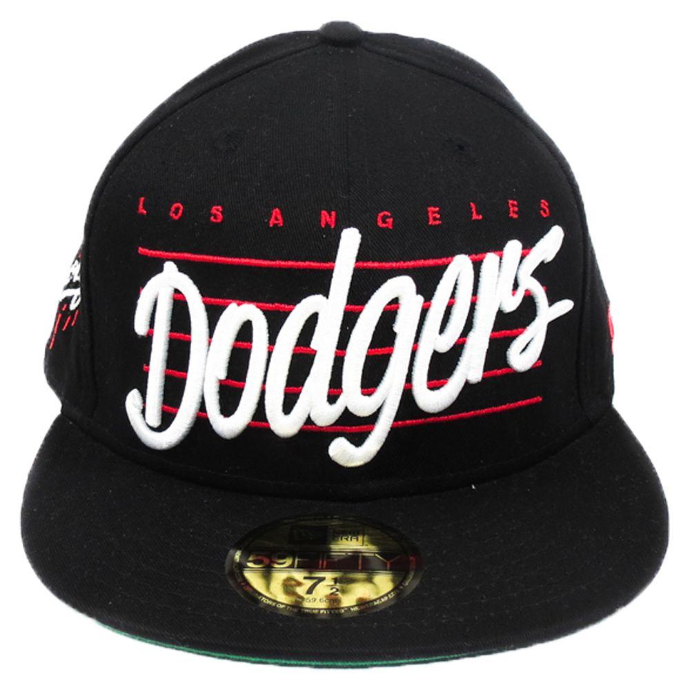 Boné New Era Beisebol Los Angeles Dodgers Aba Reta Fechado