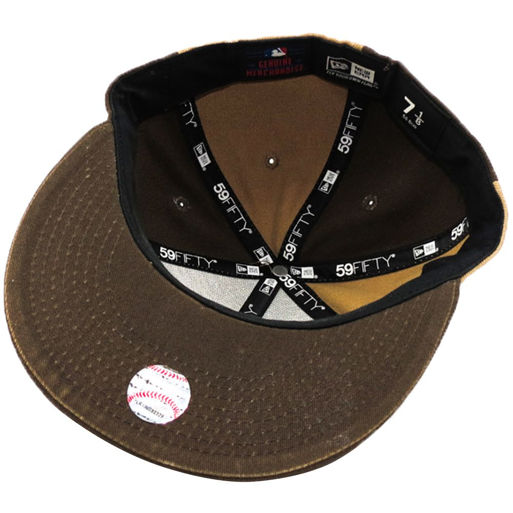 Boné New Era Beisebol New York Yankees Aba Marron Reta Fechado