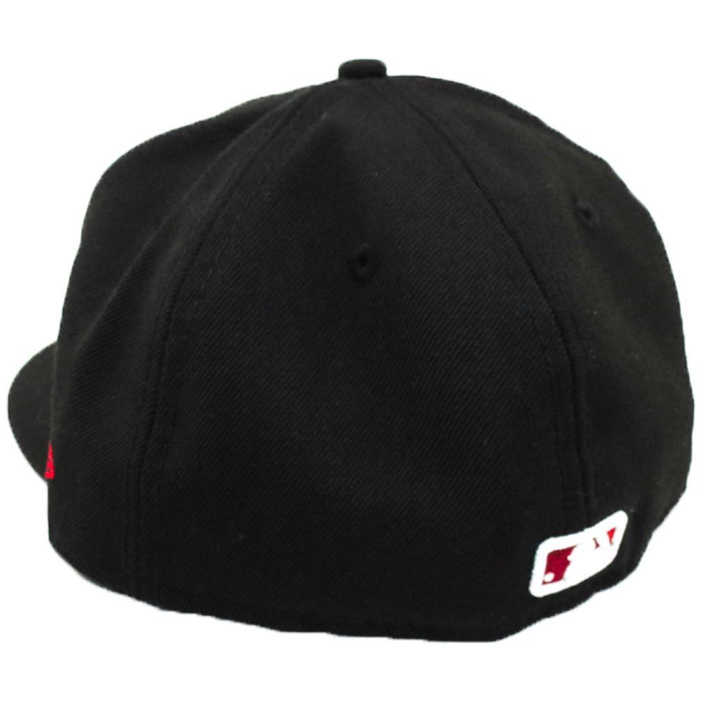 Boné New Era Beisebol New York Yankees Aba Vermelha Reta Fechado Logo Branco