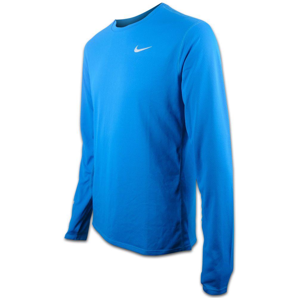 Camiseta Nike Dri Fit Running Contorno Manga Longa 683521-407 Masculino