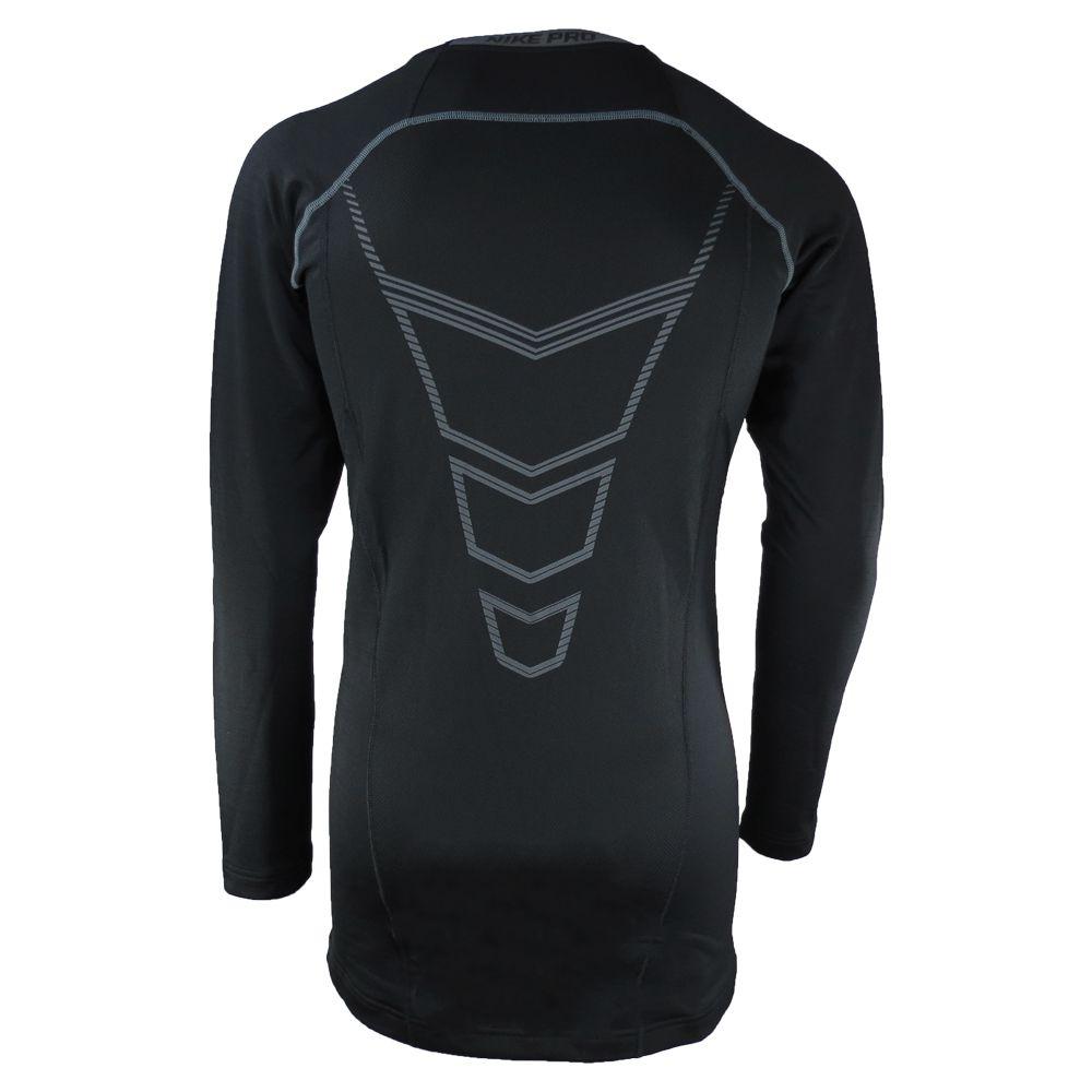 Camiseta de Compressão Nike Pro Hyperwarm DF Max Manga Comprida 659800-010 Masculino