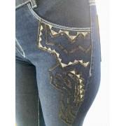 Calça Jeans Feminina Smith Brother's Flare Bordada Ref. 158