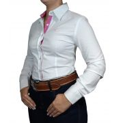 Camisa Feminina Alabama Branca Stretch Ref. 302.027