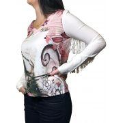 Camisa Feminina Intuito Country Babados