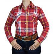 Camisa Feminina Smith Brothers Xadrez Vermelho Ref. 01