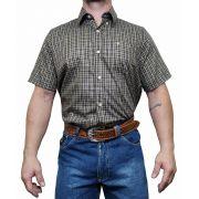 Camisa Masculina All Hunter Ref. Xadrez Preto/amarelo/Vermelho